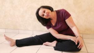 Katia, professeur de yoga au Foyer rural de Seugy